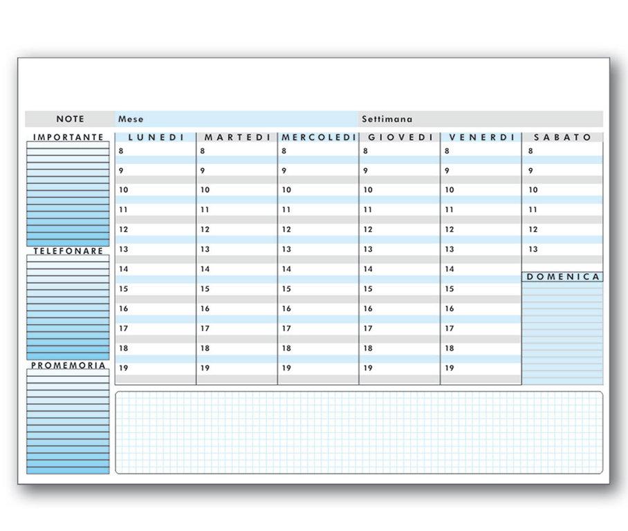 Planning da tavolo ls05 - Agenda da tavolo settimanale ...