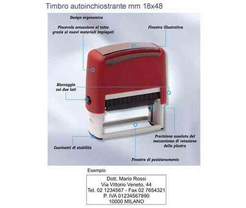 Timbro autoinchiostrante mm 18x48 art. TM9012