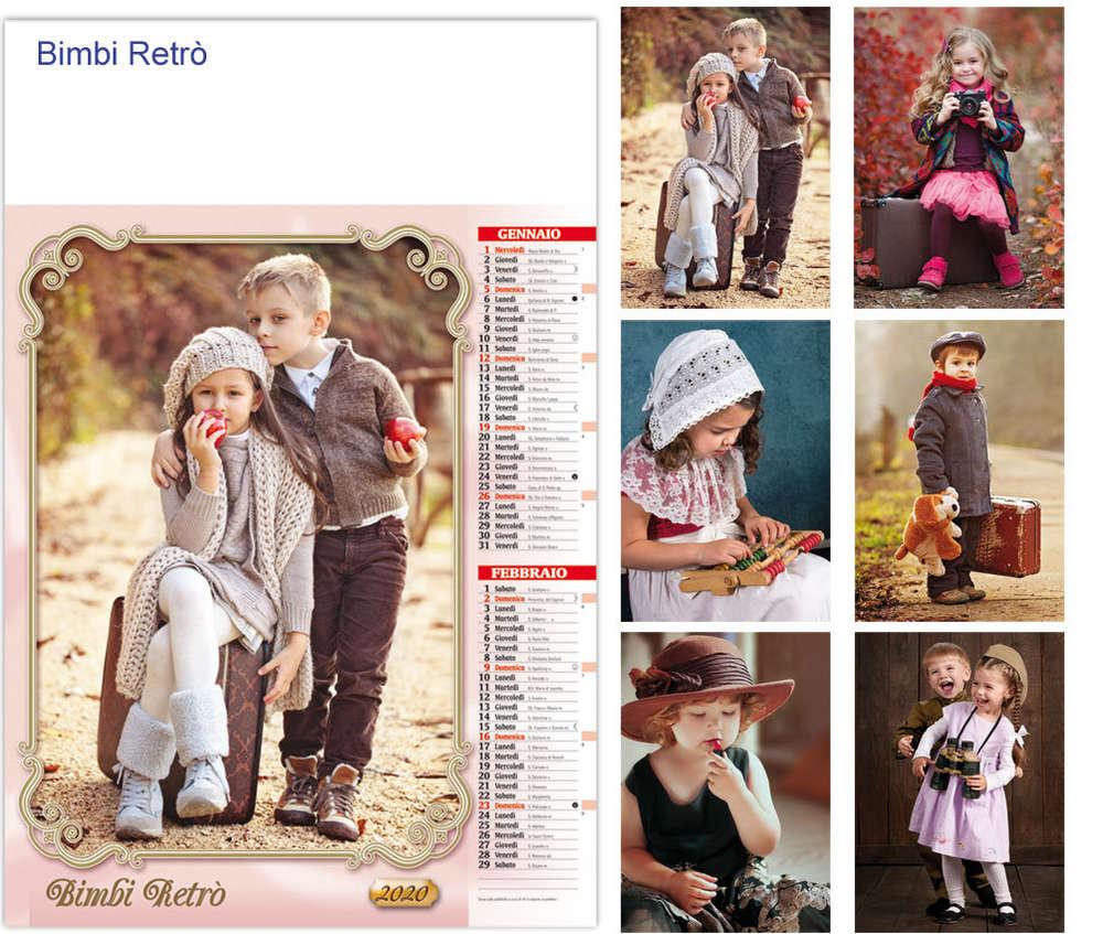 Calendario Bimbi.Calendario Illustrato Bimbi Retro Art G6110 Www Lestylo It