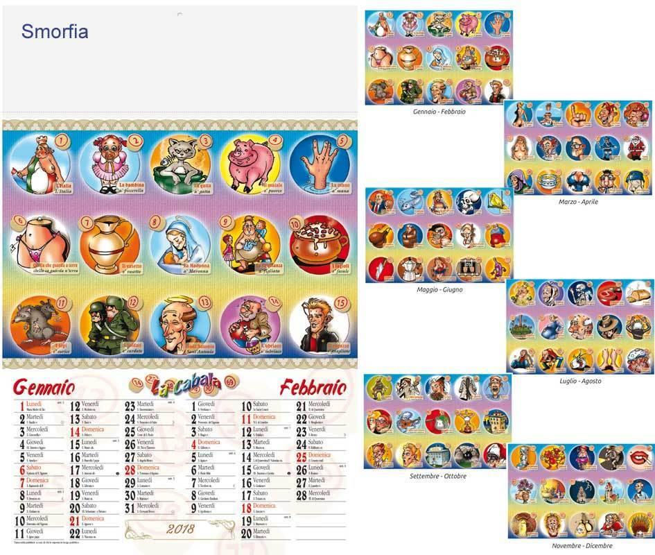 Calendario Illustrato.Calendario Illustrato La Cabala Art Ca14tb