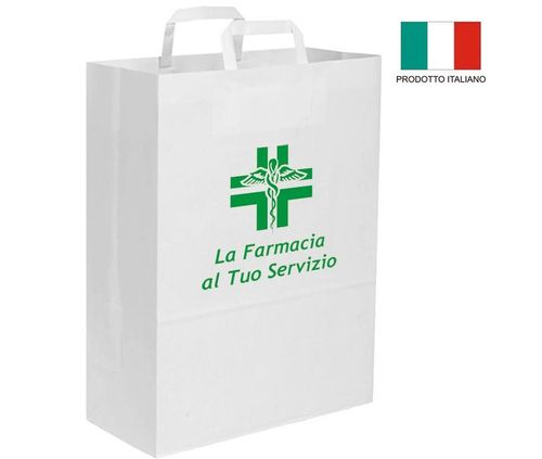 Shopper in carta Kraft per Farmacie art. SHF001