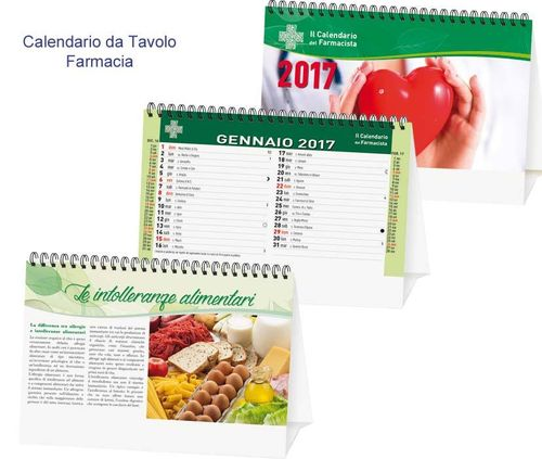 "Calendario da Tavolo ""Farmacia"" art. P0408"
