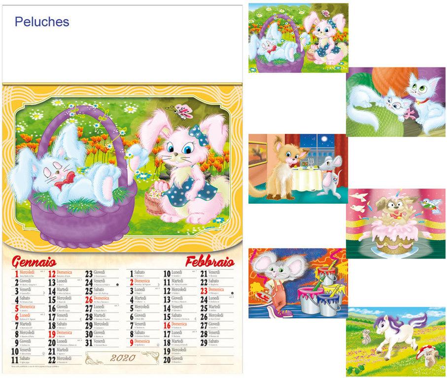Calendario Illustrato.Calendario Illustrato Peluches Art G6132