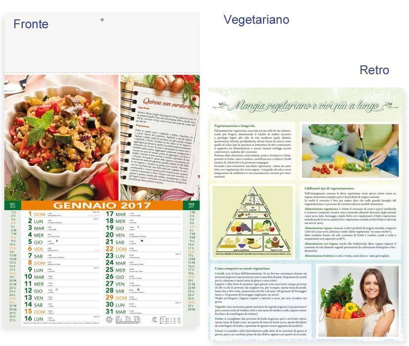 Calendario Illustrato.Calendario Illustrato Vegetariano Art P0130