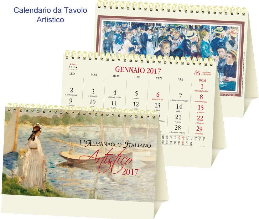 Calendario Artistico.Calendario Da Tavolo Artistico Art P0067