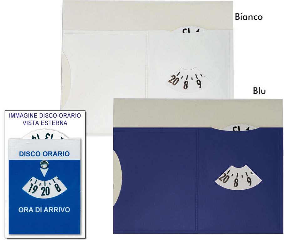 Disco Orario con porta Ticket art. K0103