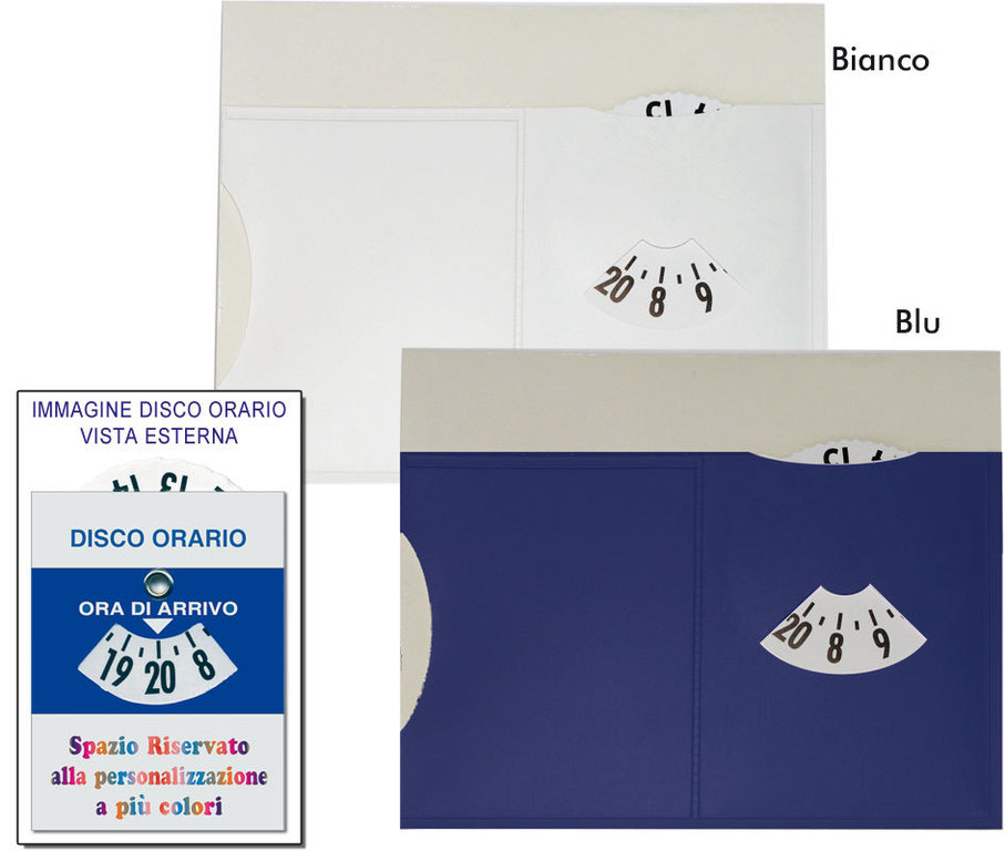 Disco Orario con porta Ticket art. K0103-C1