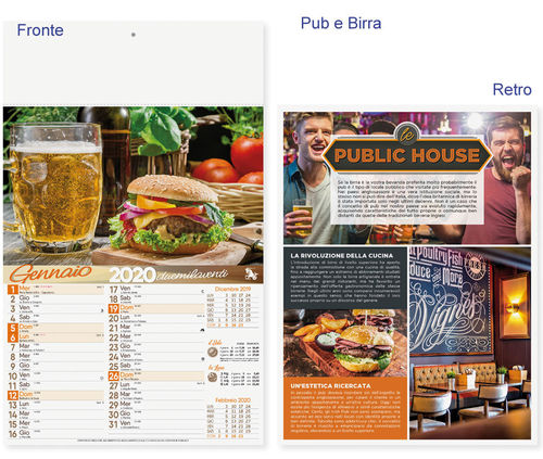 "Calendario Illustrato ""Pub e Birra"" art. P0131"