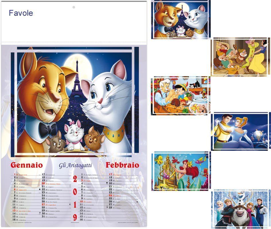 Calendario Illustrato.Calendario Illustrato Favole Art S0323