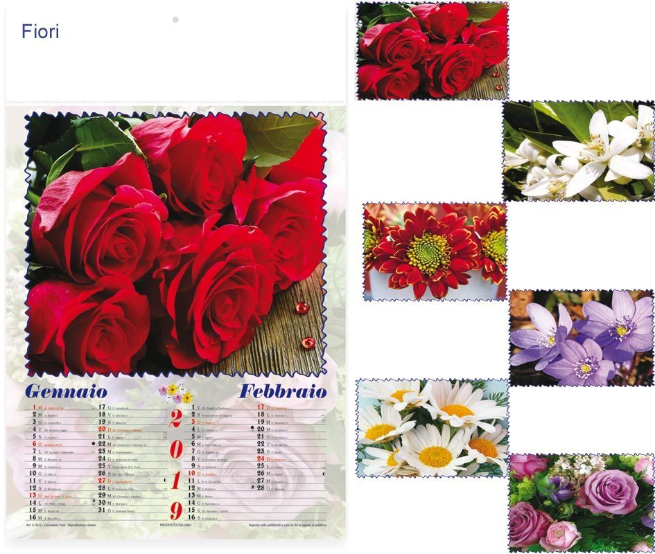 Calendario Fiori.Calendario Illustrato Fiori Art S0317