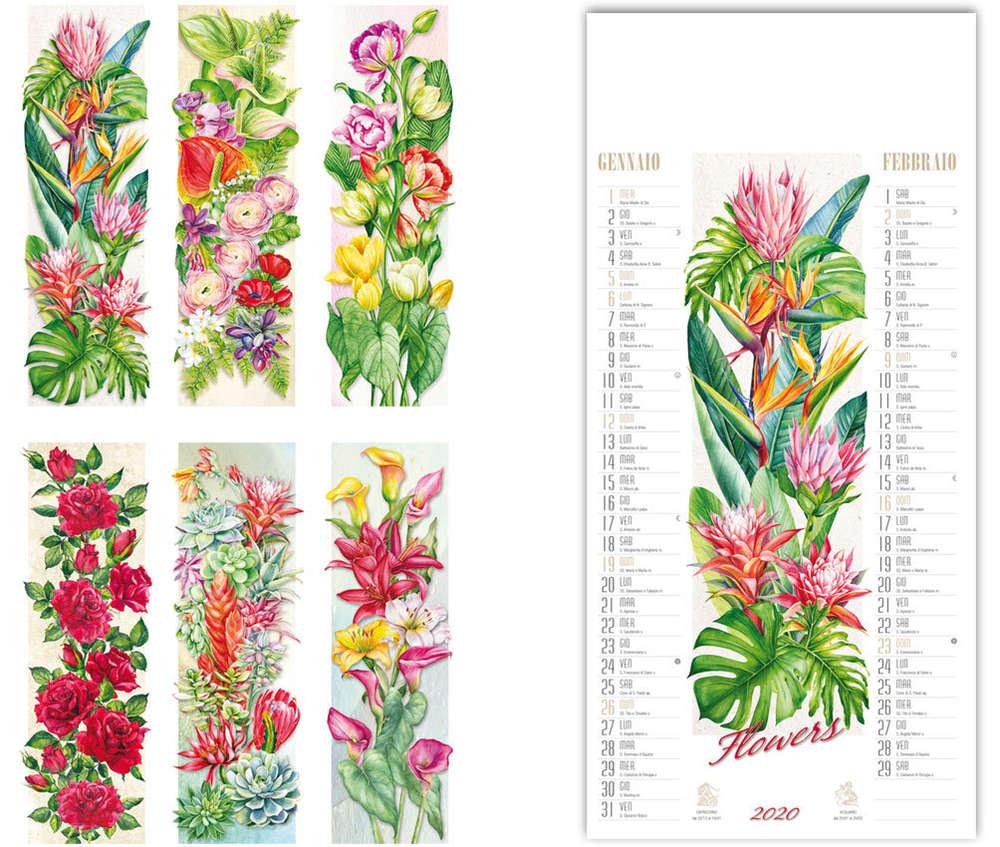 Calendario Artistico.Calendario Artistico Flowers Art Il6151 Www Lestylo It